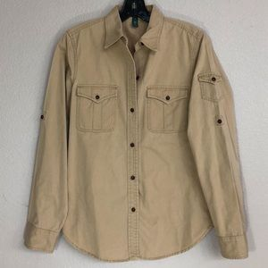 Beige Utility Shirt from Ralph Lauren